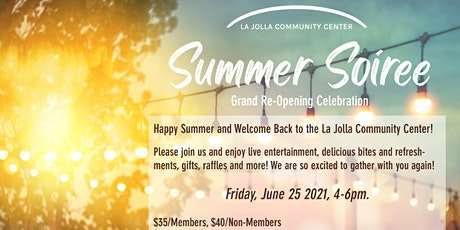 Summer Soiree - Grand Re-Opening Celebration! tickets