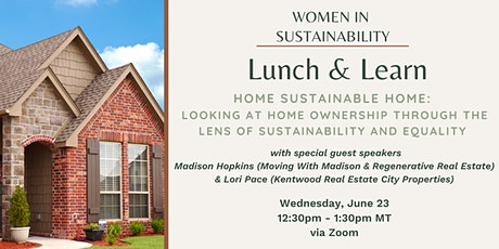 Women in Sustainability - Home Sustainable Home tickets