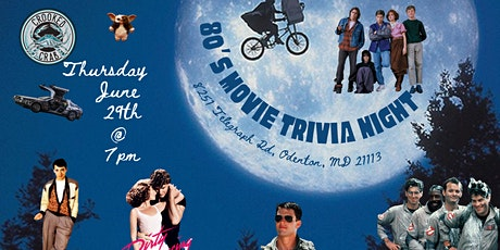 80s Movies Trivia at Crooked Crab Brewing Company tickets