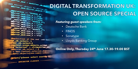 Digital Transformation UK: Open Source Special boletos