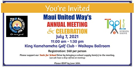 Maui United Way's Annual Meeting & Celebration tickets