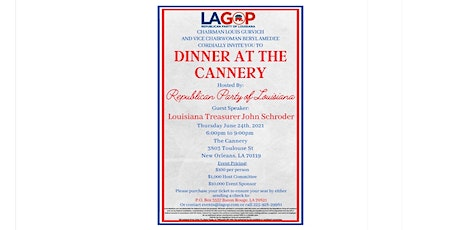 LAGOP Dinner at the Cannery tickets