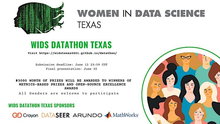 WiDS Texas: Datathon Winning Teams: Solution Presentations & Awards image