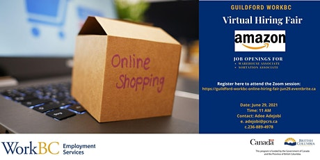 Guildford WorkBC Online Hiring Event with Amazon tickets