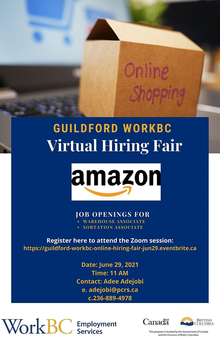 Guildford WorkBC Online Hiring Event with Amazon image