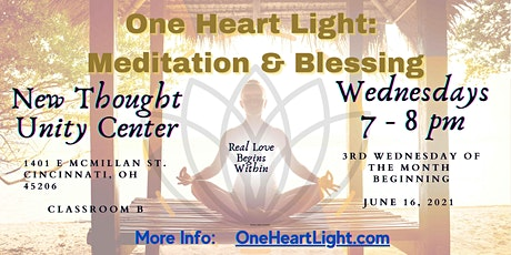 One Heart Light: Meditation & Blessing (@New Thought Unity Center) tickets