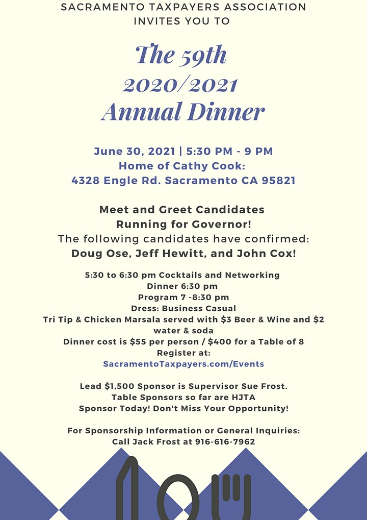 2020/2021 Sacramento Taxpayers Annual Dinner image