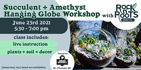 Succulent + Amethyst Hanging Globe Workshop at Ghost Monkey Brewery tickets