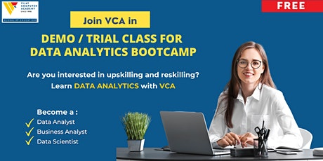 Demo / Trial Class for DATA ANALYTICS Bootcamp tickets