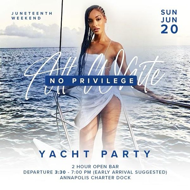 """""""All White No Privilege Yacht Party"""" image"""