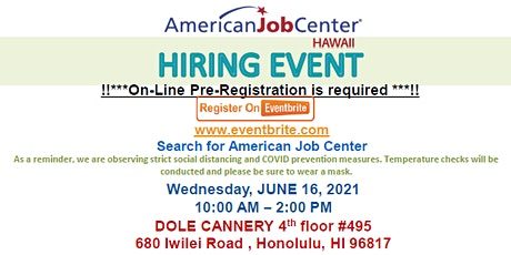 American Job Center Job Fair tickets