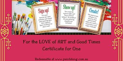 Paint Along Gift Vouchers
