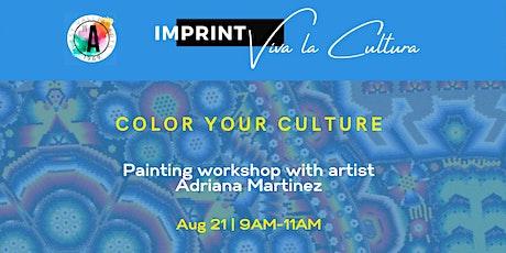 Color Your Culture Workshop, Aug 21, 2021 tickets