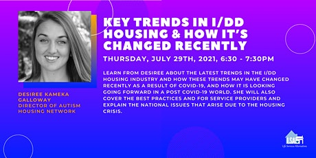 Key Trends in the I/DD Housing & How It's Changed Recently tickets