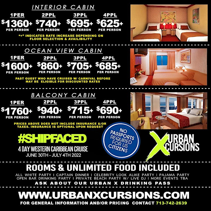 #ShipFaced | 4th Of July WKND | 4 DAY CARIBBEAN CRUISE | 6/30 - 7/4 , 2022 image