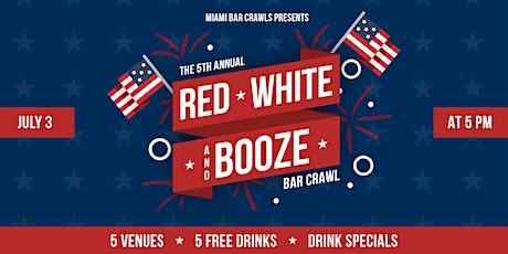 5th Annual Red, White, & Booze Bar Crawl in Brickell tickets