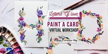 [Letters Of Love] Delicate Watercolor Floral Card Painting tickets