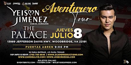 "YEISON JIMÉNEZ ""AVENTURERO TOUR"" VIRGINIA tickets"