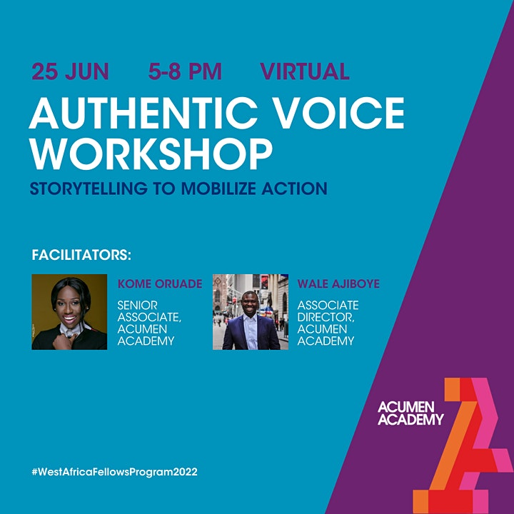 West Africa Fellows Program: Authentic Voice Workshop - West Africa Edition image