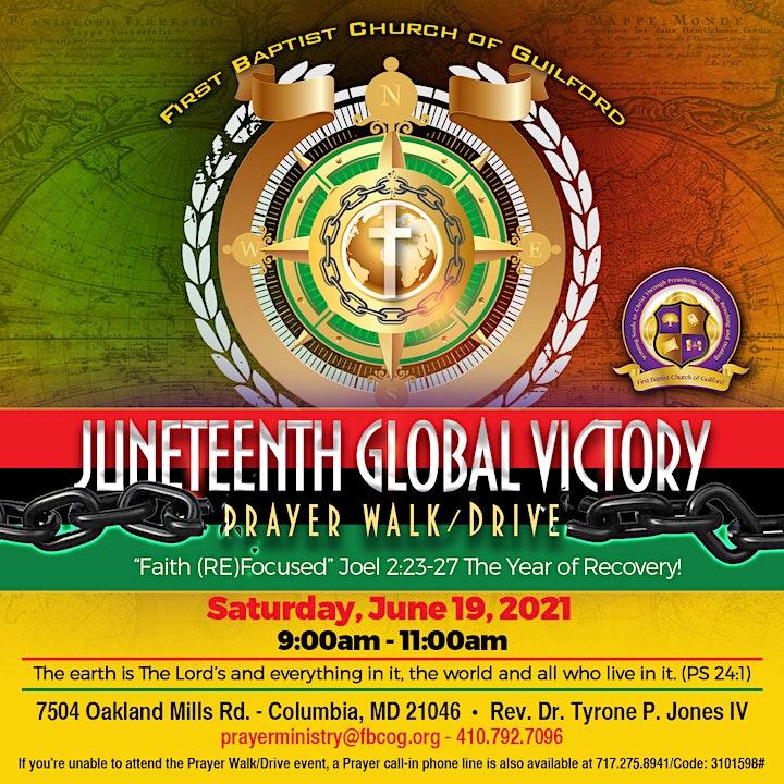 Prayer Walk - Juneteenth Global Victory image