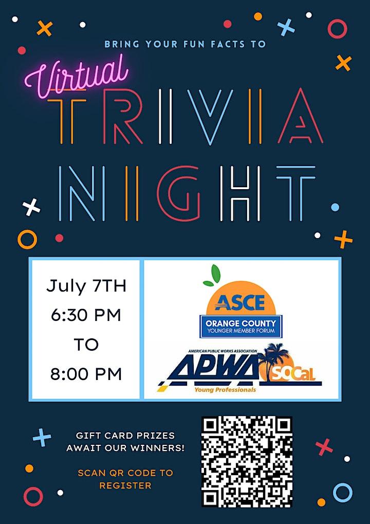 ASCE x APWA Trivia Night image