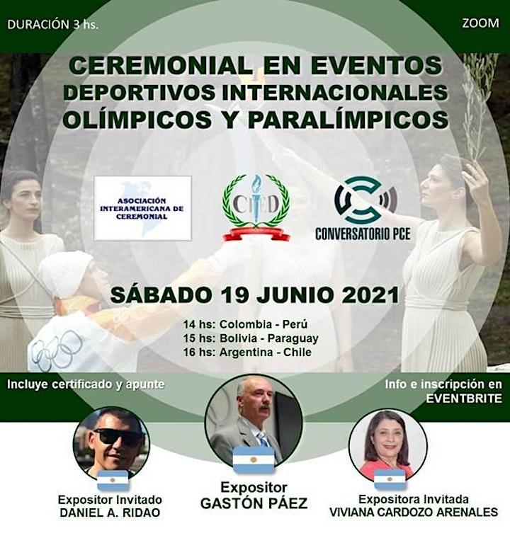 Imagen de CEREMONIAL EN EVENTOS DEPORTIVOS INTERNACIONALES, OLÍMPICOS Y PARALÍMPICOS