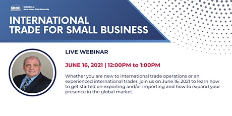 International Trade for Small Business tickets