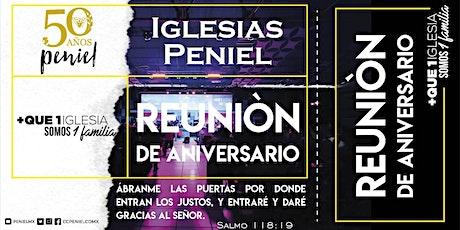 Reunión de Aniversario Peniel Álvaro Obregón boletos