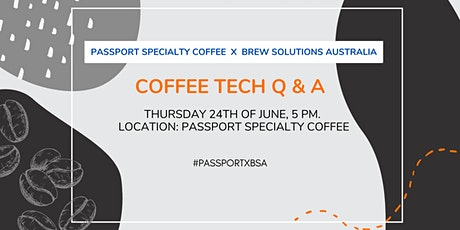 Coffee Tech Q&A tickets
