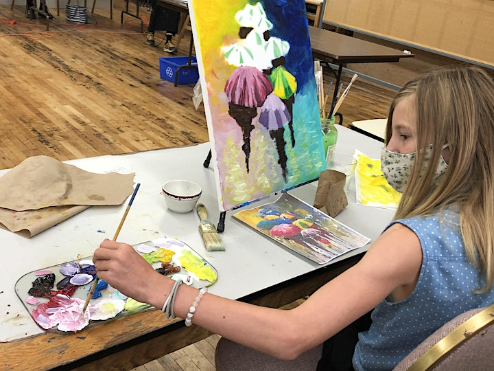 Art Under the Big Top Kids Camp- Painting Afternoon image