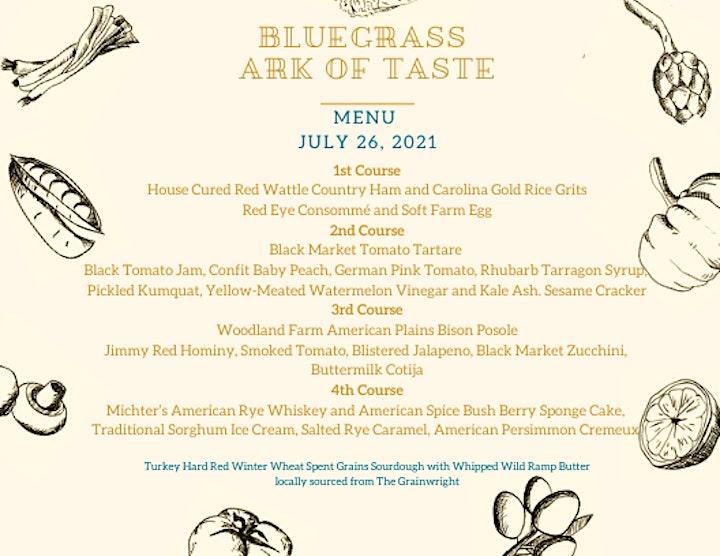 Slow Food Bluegrass Ark of Taste Dinner image