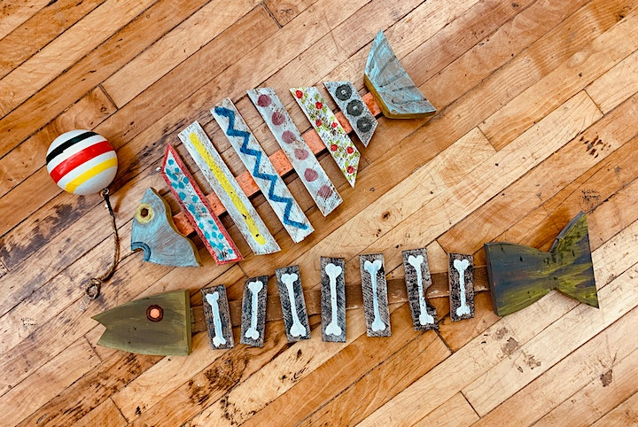 Art Under the Big Top Kids Camp- Lath Fish Afternoon image