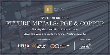 Investor Briefing 'Future Metals: PGE & Copper' tickets