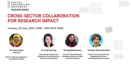 Cross-Sector Collaboration For Research Impact tickets