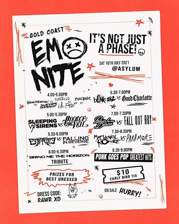 EMO NITE GOLD COAST - NOW ON SALE image