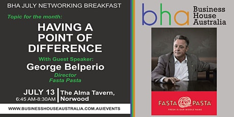 July BHA Event: 'Having a Point of Difference' with George Belperio tickets