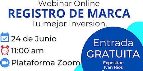 Webinar.... 'REGISTRO DE MARCA, Tu mejor inversión' entradas