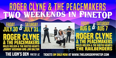 Roger Clyne & The Peacemakers  Weekend~~Borracho Sunday in Pinetop tickets