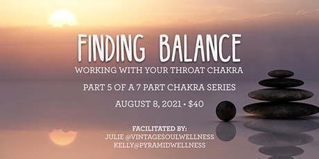 Finding Balance - working with the Throat Chakra (Calgary) tickets