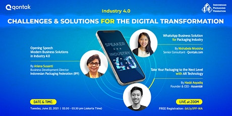 Industry 4.0 - Challenges and Solutions for The Digital Transformation tickets