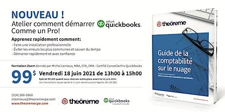Atelier QuickBooks Débutant billets