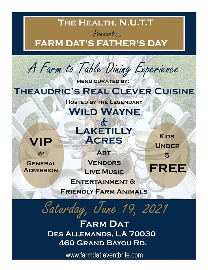 """Farm Dat's  Father's Day """"Brunch on the Bayou"""" image"""