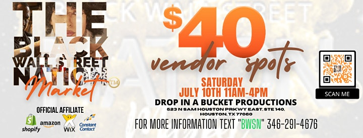The Black Wall Street Nation Market - Vendor Branding Event image
