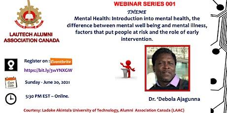 Webinar Series: Mental Health tickets