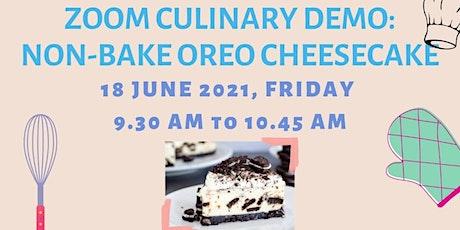Zoom Culinary Demo: Non-bake Oreo Cheesecake tickets