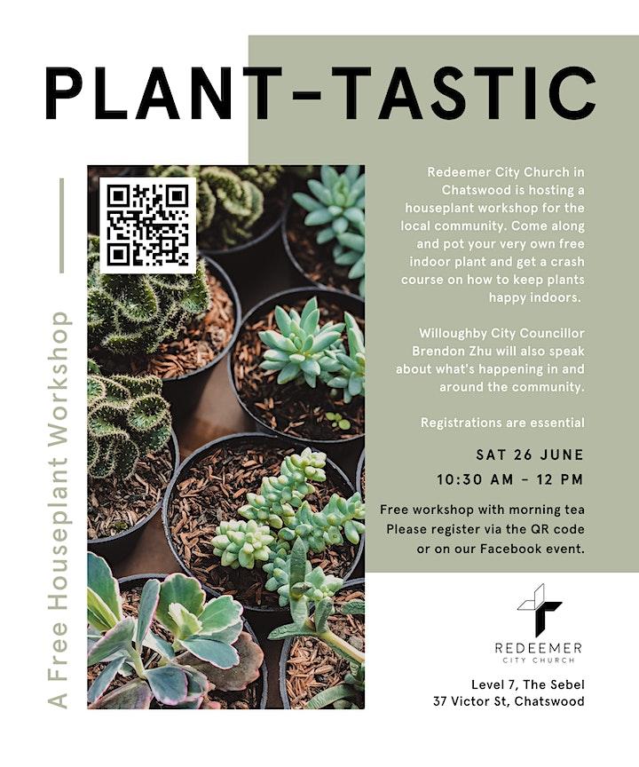 *POSTPONED UNTIL FURTHER NOTICE* Plant-tastic | A Free Houseplant Workshop image