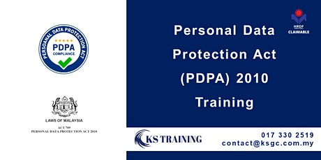 Personal Data Protection Act 2010 (PDPA) Training [HRDF Claimable] billets