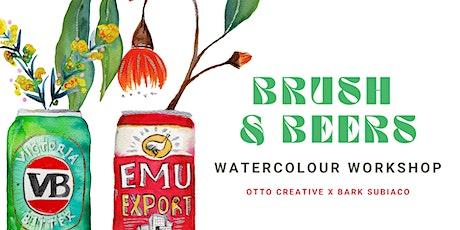 Brush & Beers - Watercolour Tinnies & Blooms tickets