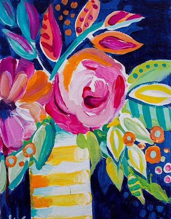 """Paint and Sip Workshop - Saturday (""""Flowers"""" Adult Session) image"""