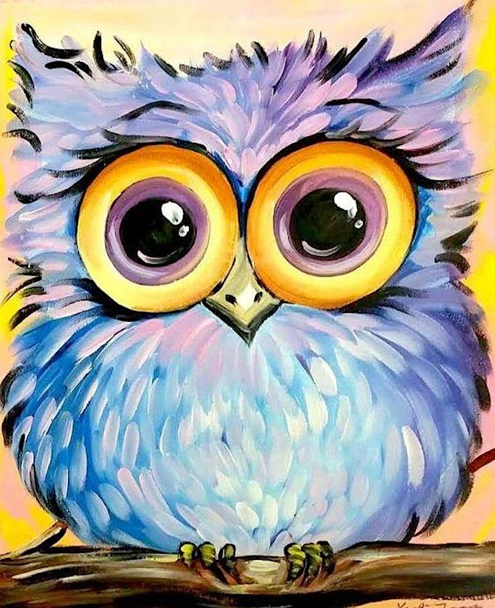"""Paint and Sip Workshop - Saturday (""""Owl"""" Alcohol Free Session) image"""
